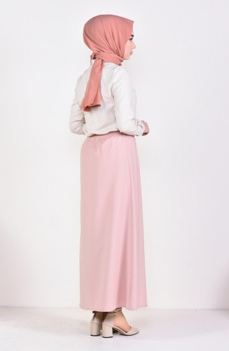 Plated Waist Skirt 1001A-05 Powder 1001A-05