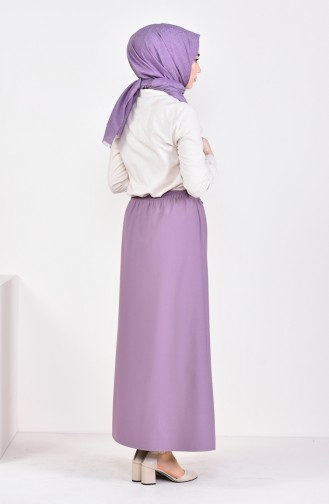 Plated Waist Skirt 1001A-06 Lilac 1001A-06