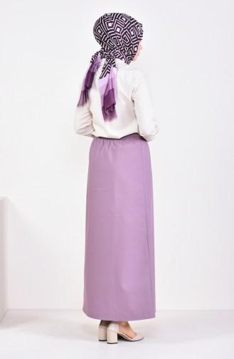 Plated Waist Skirt 1001D-03 dry Rose 1001D-03