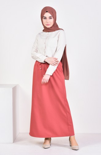 Plated Waist Skirt 1001D-05 Bordeaux 1001D-05