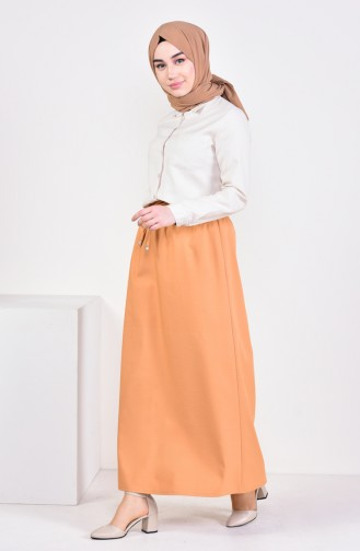 Plated Waist Skirt 1001D-06 Camel 1001D-06