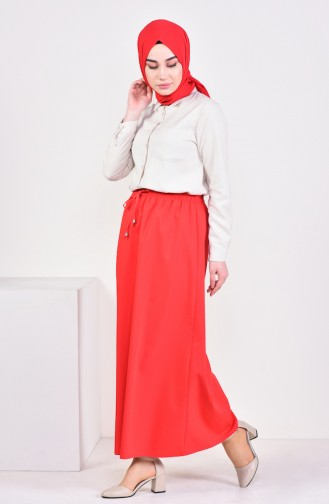 Plated Waist Skirt 1001D-07 Red 1001D-07