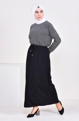 Plated Waist Skirt 1001F-01 Black 1001F-01