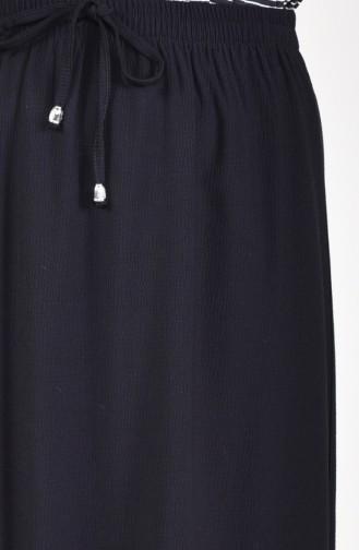 Jupe Taille élastique 1001F-01 Noir 1001F-01