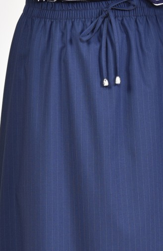 Plated Waist Skirt 1001H-01 Navy 1001H-01