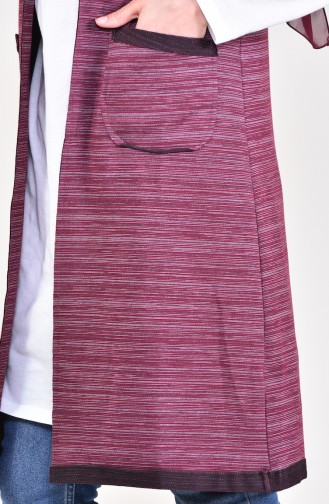 Pocket Vest 10615-02 Claret Red 10615-02