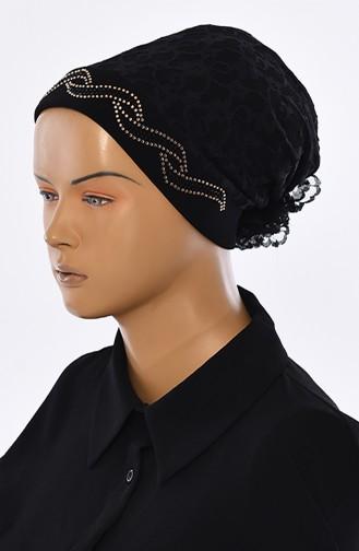 Lace Bonnet 0033-01 Black 0033-01