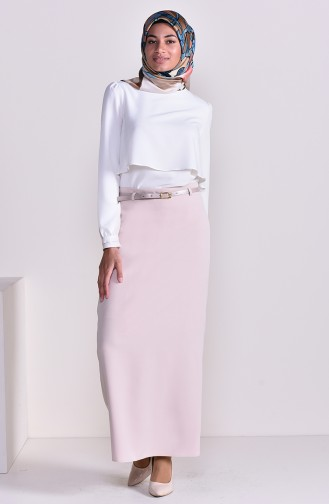 Belt Skirt 2204-02 Beige 2204-02