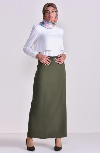 Belt Skirt 2204-05 Khaki 2204-05