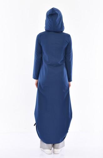 Hooded Abaya 1291-03 İndigo 1291-03