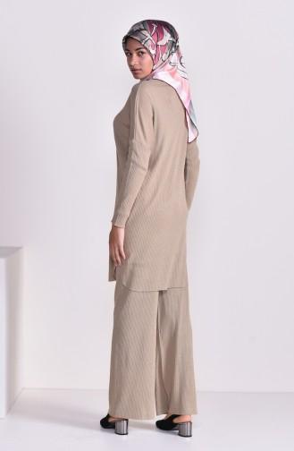 Tunik Pantolon İkili Takım 3311-15 Bej 3311-15