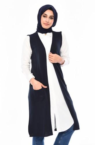 Knitwear Pocket Vest 4116-20 light Navy 4116-20