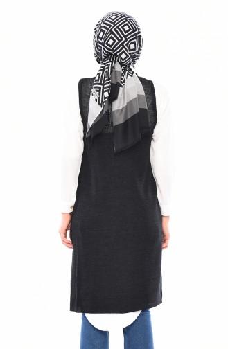 Slim Fit Knitwear Pocket Vest 4120-18 Anthracite 4120-18
