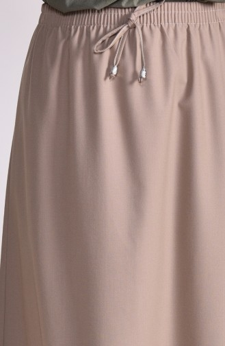 Plated Waist Skirt 1001-06 dark Mink 1001-06