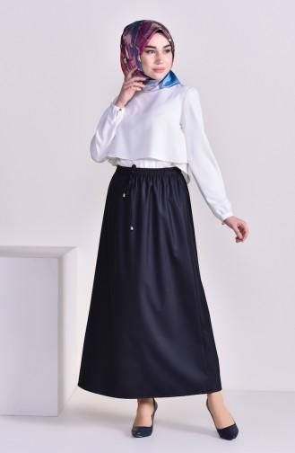 Plated Waist Skirt 1001A-10 dark NAVY 1001A-10