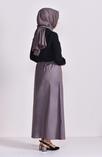 Plated Waist Skirt 1001B-02 Mink 1001B-02