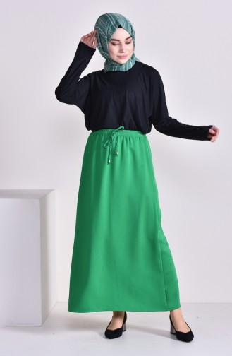 Plated Waist Skirt 1001C-01 Emerald Green 1001C-01