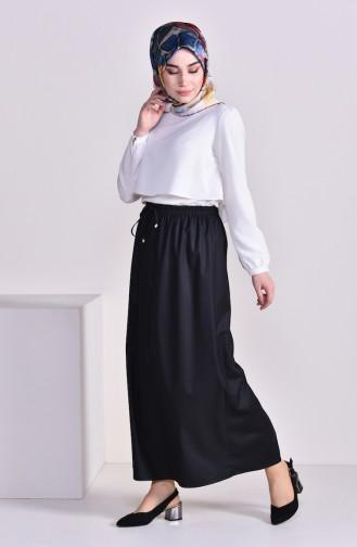 Plated Waist Skirt 1001E-03 Black 1001E-03