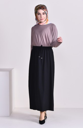 Plated Waist Skirt 1001G-01 Black 1001G-01