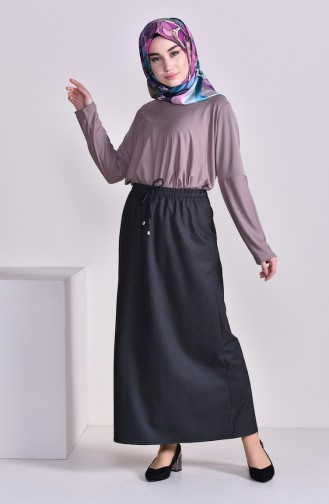 Plated Waist Skirt 1001G-03 Anthracite 1001G-03