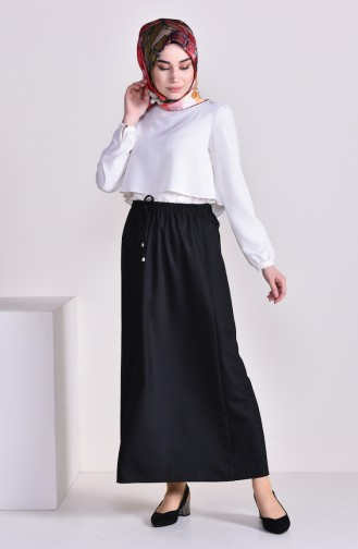 Plated Waist Skirt 1001J-01 Black 1001J-01