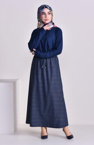 Plated Waist Skirt 1001K-01 Navy 1001K-01