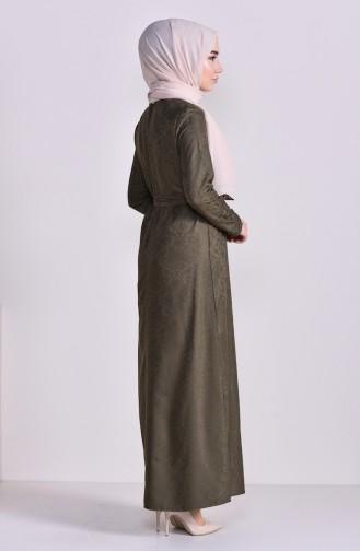 Jacquard Dress 6367-03 Khaki 6367-03