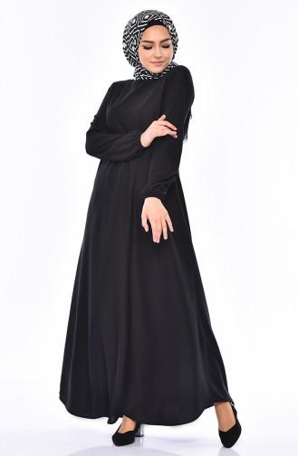 Black İslamitische Jurk 4141-02