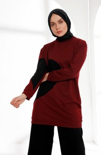 Claret red Tunic 3081-03