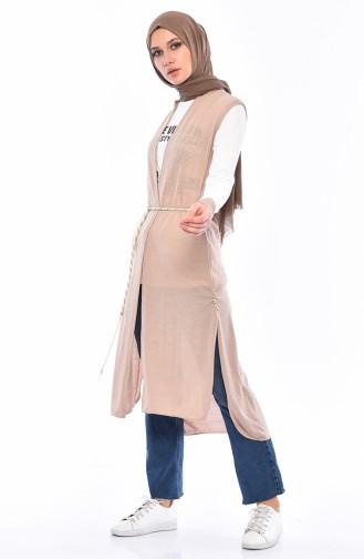 Printed Blouse Vest Binary Suit 9050-03 Mink 9050-03