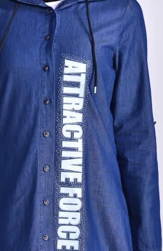 تونيك أزرق كحلي 0718-01