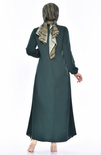 Robe Hijab Vert emeraude 7858-02