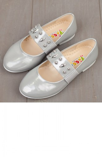 Silver Gray Kids Shoes 19PYVET0002718