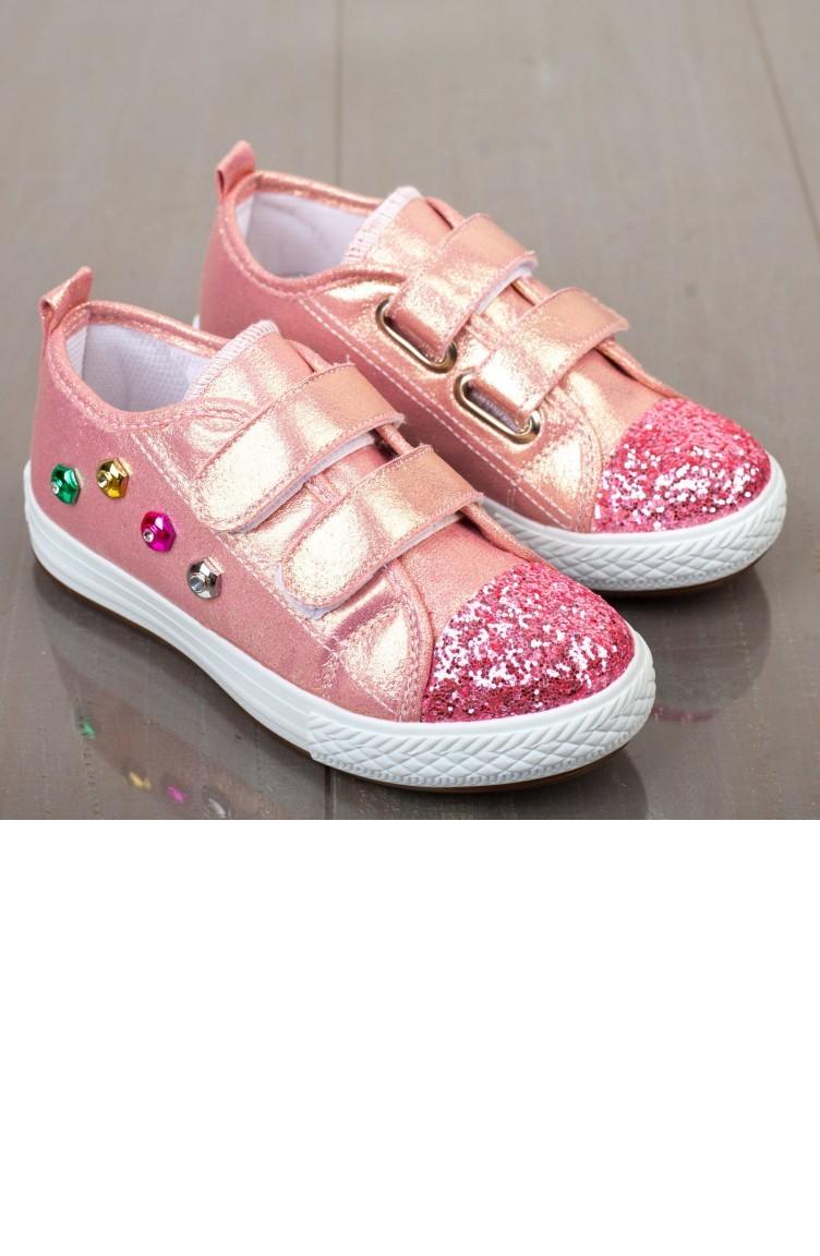 Kinderschoenen.Pink Kinderschoenen 19pymni0003009
