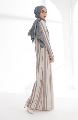 Weinrot Hijap Kleider 9013-02