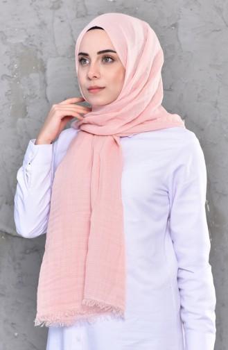 Plain Shirred Cotton Shawl 901467-07 Pink Powder 901467-07