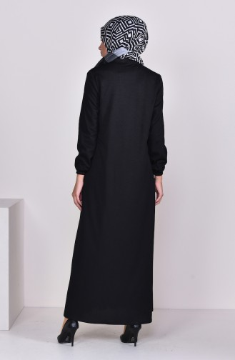 Pleated Abaya 7964-01 Black 7964-01