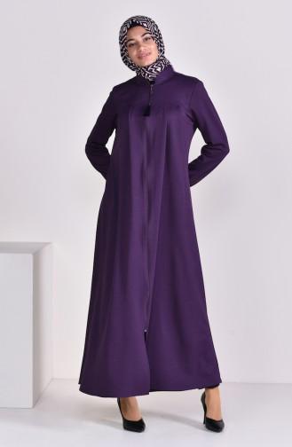 Pleated Abaya 7964-03 Purple 7964-03