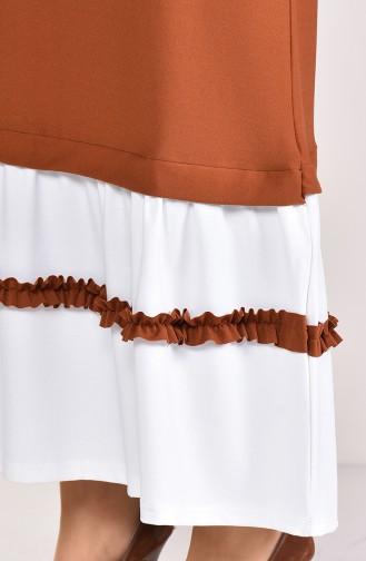Ruffle Detail Dress 3087-02 Tile 3087-02