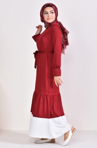 Robe Froncée 3072-04 Bordeaux 3072-04