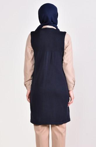 iLMEK Knitwear Pocketed Vest 4121-10 Navy Blue 4121-10