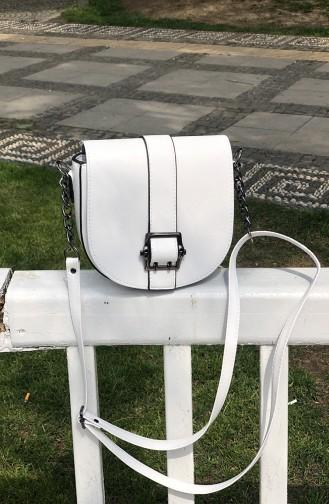 Women´s Crossbody Shoulder Bag TUA05-03 White 05-03