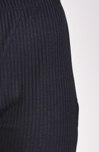 Ribbed Wide Leg Pants 5004-01 Black 5004-01