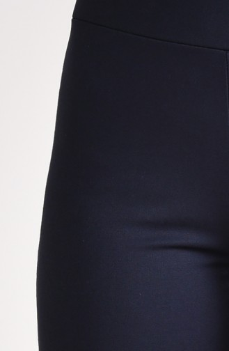 Gabardin İspanyol Paça Pantolon 2300C-02 Koyu Lacivert