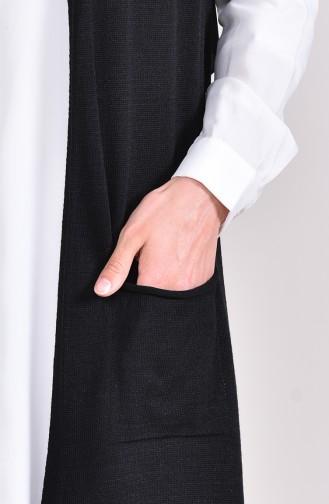 ايلميك سترة بدون أكمام تريكو بتفاصيل جيوب 4121-09 لون أسود 4121-09