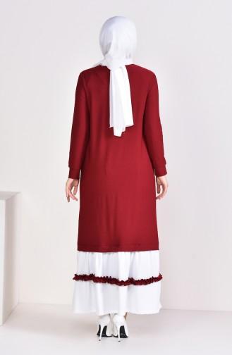 Claret red Dress 3087-03