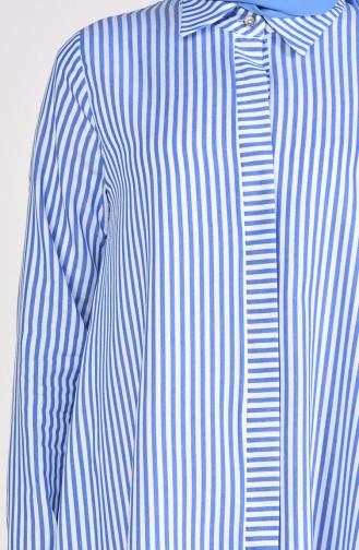 Striped Long Tunic 10132-03 Saks 10132-03