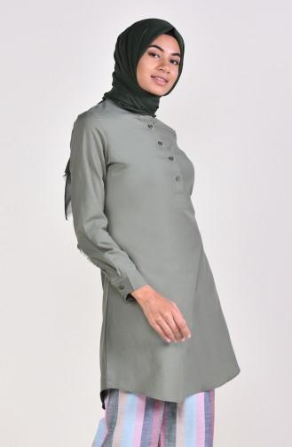 Tunique Col Officier 8201-13 Vert Khaki 8201-13