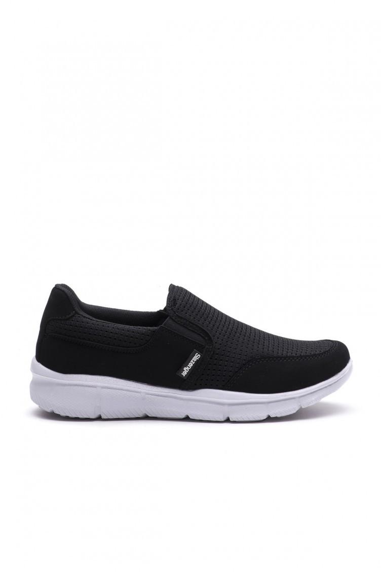 13d682d22 سلازنجر حذاء نسائي كاجوال لون أبيض و أسود 80265