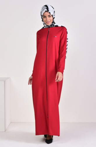 Embroidered Abaya 99183-02 Claret Red 99183-02
